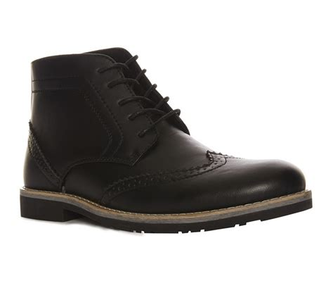 an extraordinary black lace up brogue boot for primark