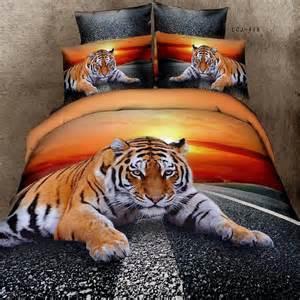 2015 new arrival 3d animal print tiger bedding set