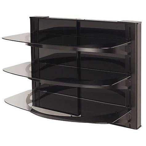Sanus Component Shelf by Sanus Vf5023 Three Shelf Wall Mount Furniture Vf5023 B1 B H
