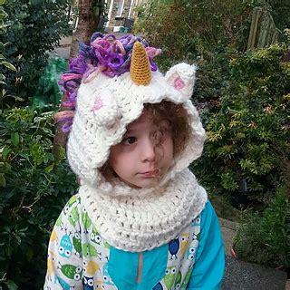 unicorn cowl pattern ravelry unicorn hooded cowl pattern by briana k designs