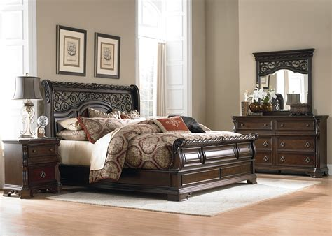 Places To Get Bedroom Sets Arbor Place Sleigh Bedroom Set From Liberty 575 Br Qsl