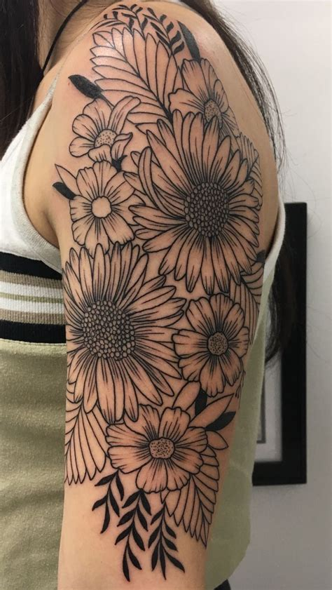 floral half sleeve tattoo best 25 flower sleeve ideas on