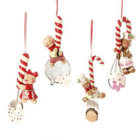 raz 6 quot gingerbread kitchen utensil christmas ornament set of 4