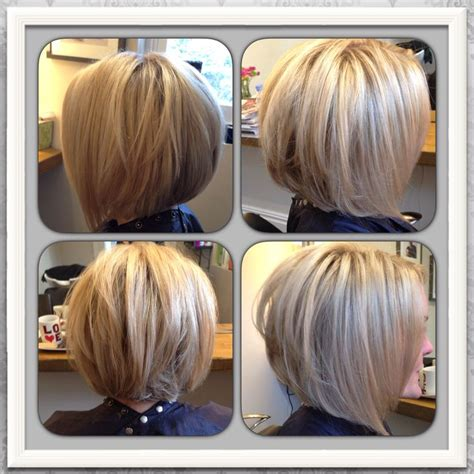 hair makeup on pinterest short stacked bobs new hairstyles and fra love my new hair blonde highlighted inverted graduated