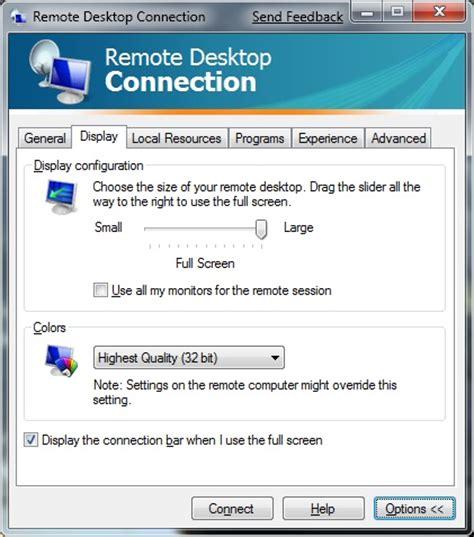 change wallpaper remote computer change the default resolution of remote desktop connection