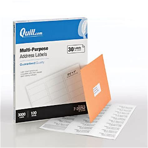 template for quill address labels address label template quill 3000 labels quill com