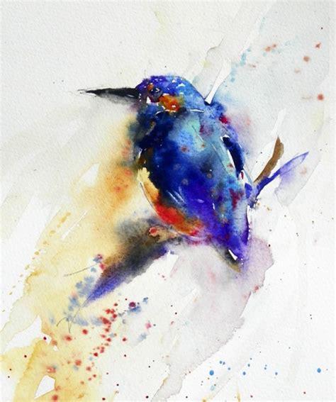 natalie graham watercolour painting of a kingfisher artists illustrators original