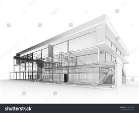 architects and designers building blueprint design of modern office building architects and designers drawing stock photo