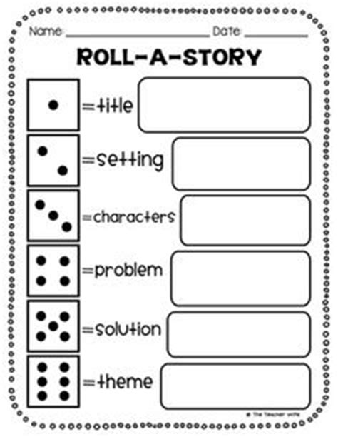 printable guided reading dice focus comprehension retelling directions students will