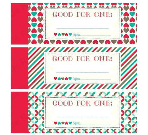 coupons template free printable a letters for him