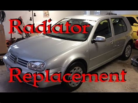 vw golf radiator fan replacement mk4 golf tdi thermostat alternator and fan belt replac
