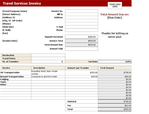 invoice format excel excel format commercial tax invoice template