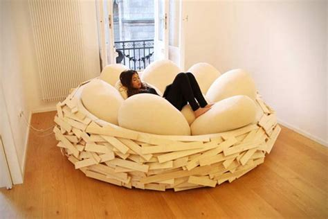 Egg Bed by Caw Caw Bird S Nest Bed With Egg Pillows Geekologie