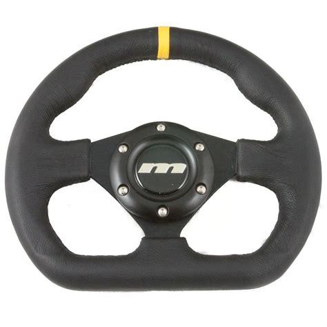 boat steering wheel tight 250mm flat bottomed leather steering wheel black spokes