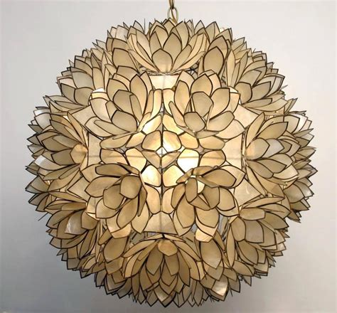 capiz shell lighting fixtures large capiz shell pendant light fixture at 1stdibs