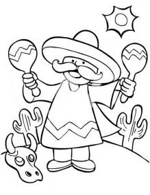 mexico coloring pages a mexican shaking two maracas at mexican