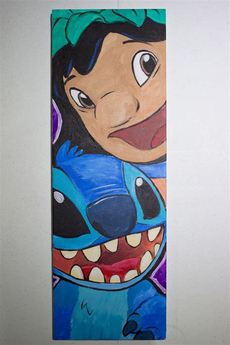 stitches painting lilo stitch painting glen canlas