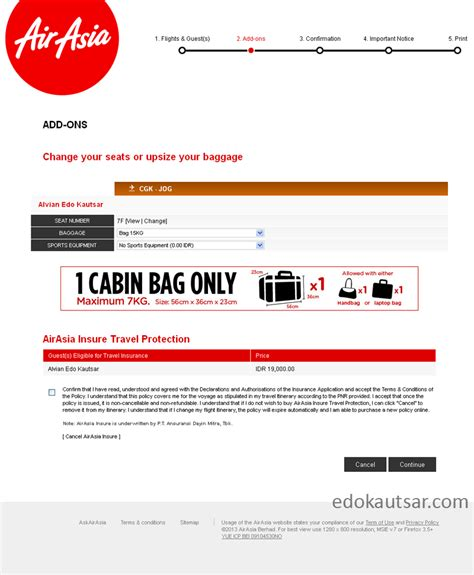 airasia online check in tips web check in di air asia website travelling