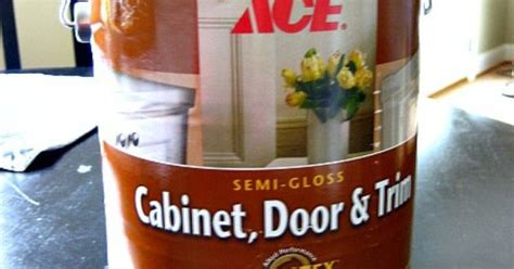 ace hardware cabinet door and trim alkyd enamel self levels like based paint but easy