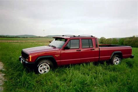 comanche jeep 4 door 4 door comanche in the just saw this on jeep forum