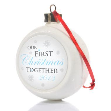 our first christmas together bauble the gift experience