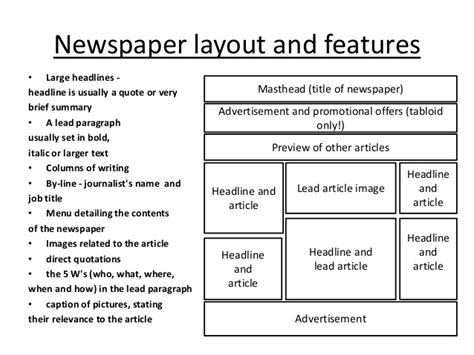 newspaper layout terminology deconstructing newspaper front pages