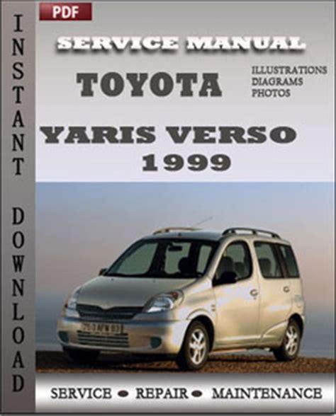 toyota yaris verso 1999 service repair manual instant