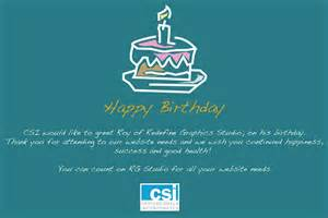 birthday wishes to roy of redefine graphics studio csi professionals inc s