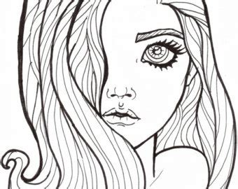 coloring pages of girl with long hair coloring pages of tumblr girls with long hair coloring pages