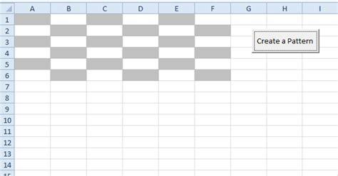 pattern color vba create a pattern in excel vba easy excel macros