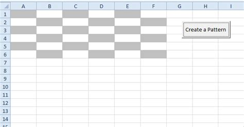 pattern color excel vba create a pattern in excel vba easy excel macros
