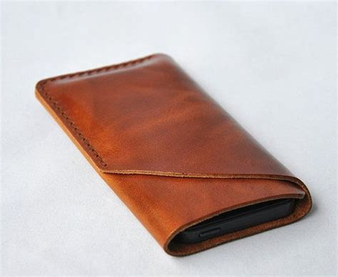 Handmade Leather Cases - for iphone 5 4s 4 leather handmade phone sleeve