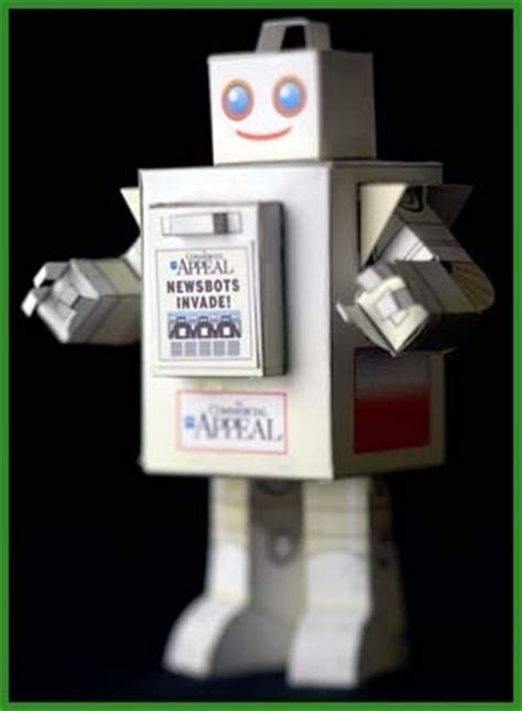 Make Your Own Papercraft - make your own newsbot papercraft paperkraft net free