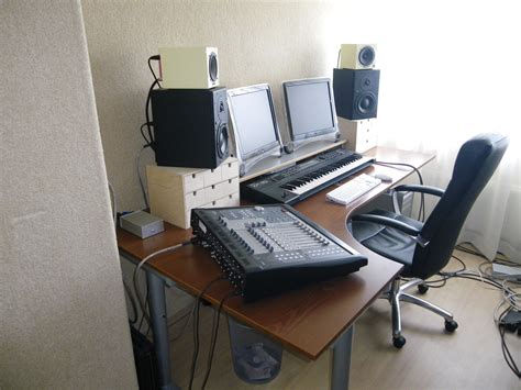 l shaped music studio desk dutch home studio refurbish gearslutz pro audio community