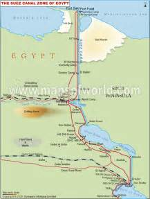 Suez Canal In World Map by Twelfth Bough Things That Stink
