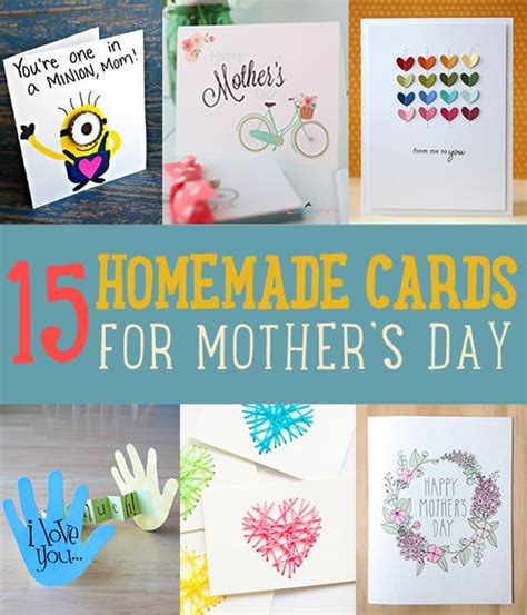 diy mother s day card 15 beautiful handmade mother s day cards diy ready