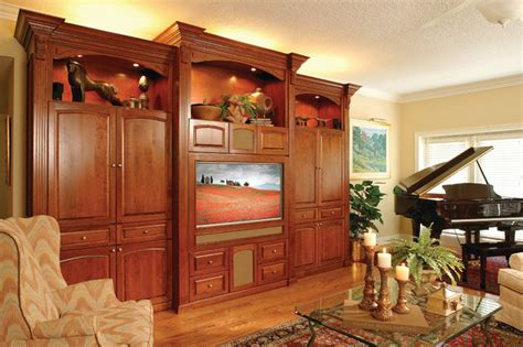 Custom Built Cherry Entertainment Center Traditional Custom Living Room Furniture