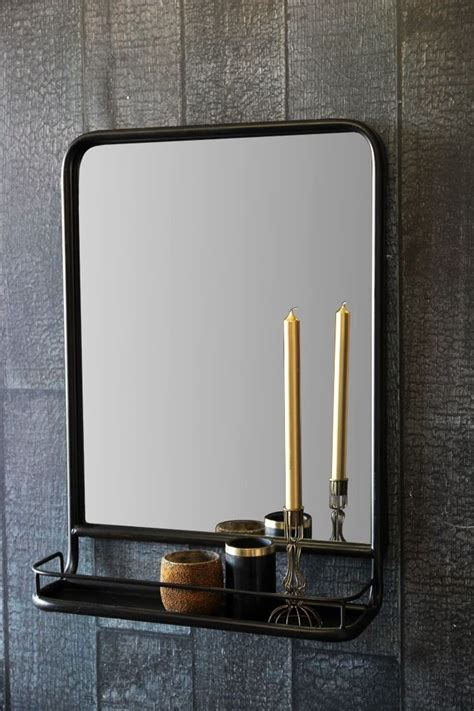 mirror shelf bathroom black wall mirror with shelf portrait from rockett st george