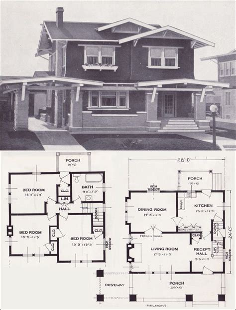standard home plans 1923 standard homes company the belmont notice how each