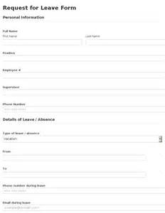 Leave Form Template by Business Form Template Gallery