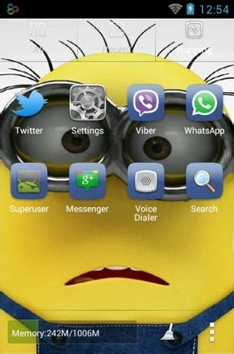 themes android minions minions android theme for go launcher androidlooks com