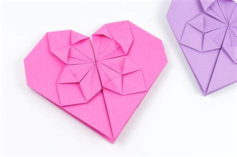 How To Make Small Origami Hearts - how to make an origami