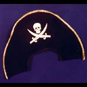 pattern pirate hat felt soft felt pirate hat