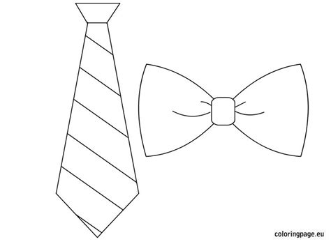 coloring page bow tie tie bow tie template pinteres
