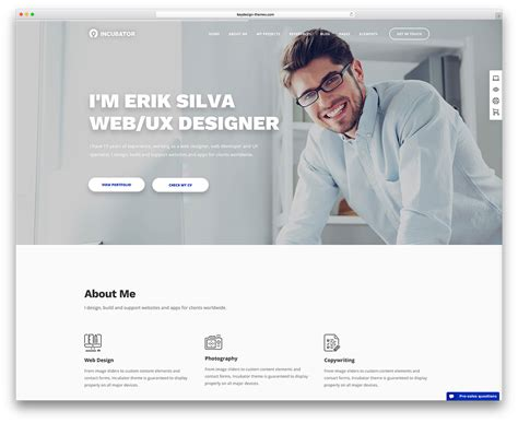 wordpress themes free personal website 30 best vcard wordpress themes 2018 for your online resume
