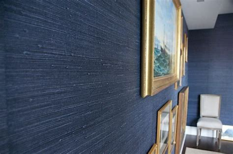 image result  navy blue seagrass wallpaper decor