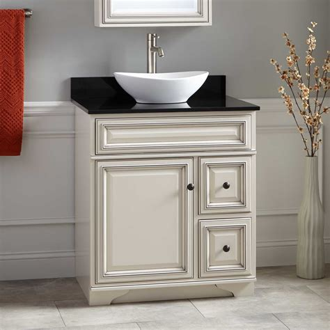 white bathroom vanity with vessel sink 30 quot misschon vessel sink vanity antique white bathroom