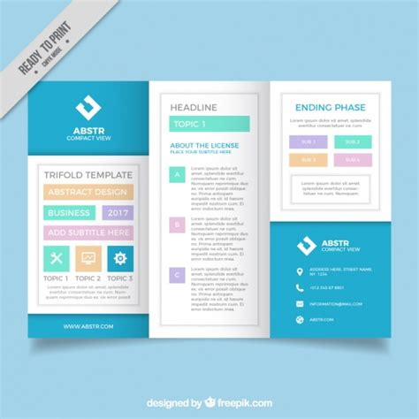 fantastic business brochure template vector free download