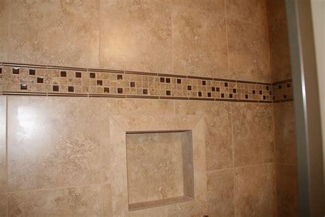 Pinterest Bathroom Tile Ideas custom tile accent band