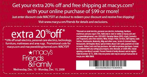 Macy S Gift Card Promo Code - printable macy s coupons printable coupons online